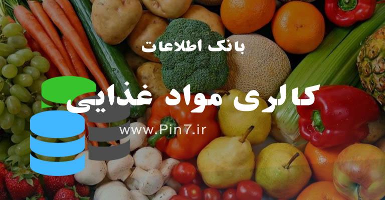 بانک اطلاعاتی کالری مواد غذایی و خوراکی ها